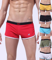 Men Boxers & Boy Shorts Sexy 5PCS Lot Free Shipping Hot Sale Mens Sexy Underpants Holes Designer Man Male Casual Sports GYM Shorts Trunks Boxers Briefs Lingerie Pouch