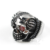 Celtic Men's Gift Cheap Wholesale Pirates of the Caribbean One-eye Skull ring JC0124 Outlet Sale Free Shipping