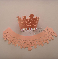 Wholesale pink cute duck pearl paper decorative cupcake wrappers wedding cake topper for baby shower