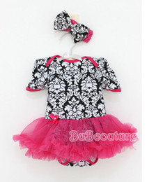 Wholesale New Baby One Piece Romper Jumpsuit Rompers With Bowknot Headbands Infant Wear Girls Climb Clothes Newborn Romper tutu Dress Sets sets