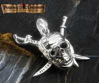Celtic Men's Gift Cheap Wholesale Pirates of the Caribbean the skull logo necklace JC0107 Outlet Sale Free Shipping