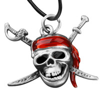 Celtic Men's Gift Cheap Wholesale Pirates of the Caribbean the red headscarf pirate necklace JC0119 Outlet Sale Free Shipping