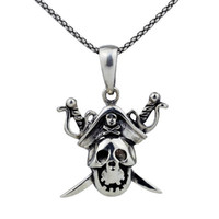 Celtic Men's Gift Cheap Wholesale Pirates of the Caribbean 925 Sliver the Ultimate Mission necklace JC0126 Outlet Sale Free Shipping