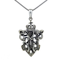Celtic Men's Gift Cheap Wholesale Pirates of the Caribbean 925 Sliver the Royal Imprint necklace JC0127 Outlet Sale Free Shipping