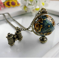 Celtic Men's Gift Cheap Wholesale Pirates of the Caribbean the Mini Globe necklace JC0120 Outlet Sale Free Shipping