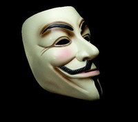 Wholesale New Arrival Black and Yellow V Masks V for Vendetta Masks Super Scary Masks Halloween Masks