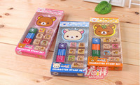 Glass bears photos - Rilakkuma Bear Small size Mini stamp DIY photo stamp with Ink pad stamp set Design FreeShipping