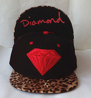 Wholesale Leopard Diamond Supply Co Snapback Hats Black Red Grey mix order Snap Back Hip Hop Street Caps Knitted Beanies Hats
