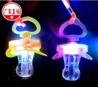 Wholesale Light whistle flash whistle flash nipples pacifiers light led toy Party Supplies ghjk
