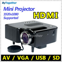 Wholesale Cheap Mini Projector LED lamp portable projector with HDMI USB SD VGA AV handheld for TV PC laptop phone home theater multimedia