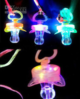 Wholesale EMS LED Whistle LED flashing pacifier cheer whistle for party supplies
