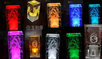 Wholesale Crystal Bar Table lamp Rechargeable LED Tea Light Tealight coffee bar Party supply