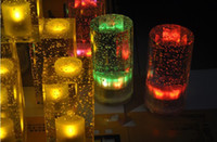 Wholesale Creative Crystal Bar Table lamp Rechargeable LED Tea Light Tealight coffee bar Party supply