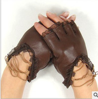 Wholesale Half gloves Leather gloves Fashion half gloves Fingerless Gloves Lace gloves Half leather gloves