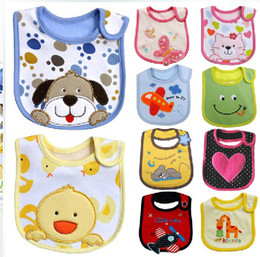 Wholesale Pattern Infant Cartoon Baby Bib Lunch Bib Saliva Towel Layer Cotton Waterproof