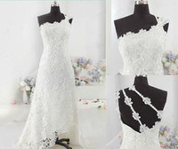 Wholesale New Sexy Fashion High Grade Wedding Dresses Water Soluble Lace Fabrics Low Price Promotion Lace Prom Ball Gown Evening Bride Wedding Dress
