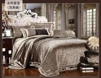 100% Silk Hotal Adults Free Shipping 4 pcs of satin silk textile cotton quilt cotton marriage celebration bedding denim bedding deals