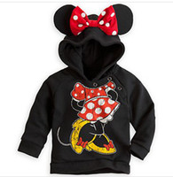 Wholesale Girls cartoon Minnie mouse hoodies kids long sleeve overcoats children s Pullovers autumn wear fashion outerwear