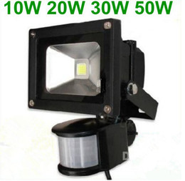 Hot Sale! 10W 20W  30W PIR Motion detective Sensor LED Flood light Outdoor Led Floodlight