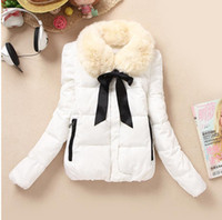 Wholesale 2014 New Style Winter Jackets For Women Down Jackets Clothing Fashion Jackets Raccoon Fur Collar New Feather butterfly knot