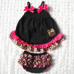 baby chevron sets girls strapless swing dresses + ruffle lace bloomers shorts kids boutique outfits children summer clothes infant leopard s