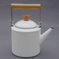 Wholesale ZAKKA export to Japan L enamel kettle hot water pots health care teapot whistling boiler for stove furnance amp induction cooker