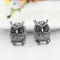 Wholesale Fashion Design Vintage Classic Lovely Alloy Owl Stud Earrings For Women