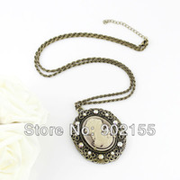 Women's cameo necklace - Antique fashion aulic graceful cameo necklace