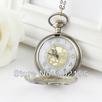 Wholesale Vine style Classic lovely fashion jewelry hollow out flower pocket watch