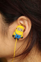 Wholesale 3D Despicable Me Minions Best sound earphones MM In ear earphone for MP3 MP4 DJ headphone