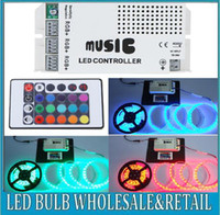 Wholesale 12 V Keys Wireless IR Remote Control LED Music Sound Controller Dimmer for RGB LED Strips