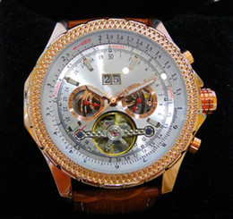 Automatic Luxury Men Mechanical Watches tourcostson rose gold brown leather watch Stainless Swiss diver Sport Mens dress Wristwatches man