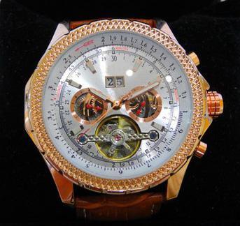 Автоматические роскошные мужские механические часы tourcostson розовое золото коричн фото