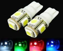 Compra Online Luces del coche rojo-200 x Super Blanco T10 194 168 W5W 5050 5LED Bombilla LED de alta potencia, blanco / azul / rojo / verde / amarillo bulbo del coche, plug and play!