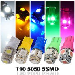 Compra Online Luces del coche rojo-800x T10 194 168 W5W 5050 5LED Bombilla LED de alta potencia azul / rojo / amarillo / blanco / verde bombilla brillante super coche.