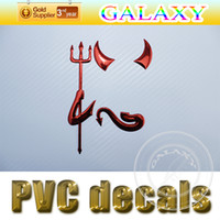 Wholesale D PVC Stickers Demon Pattern Stickers Small Devil Automobile Label Individual Cool Car Decals