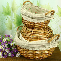 Wholesale Willow storage basket fruit basket storage basket piece set home accessories