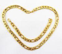 Wholesale Fashion Men s Jewelry Set K Gold Necklace Bracelet Chain Width mm VJS