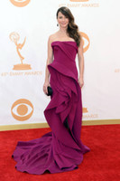 Wholesale Newest th Annual Primetime Emmy Awards Linda Cardellini in Sexy Sweep Train Mermaid with Train Satin Sleeveless Evening Celebrity Dress