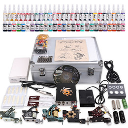 Wholesale USA Dispatch Professional complete cheap tattoo kits guns machines ink sets equipment power supply grips needles MKD1