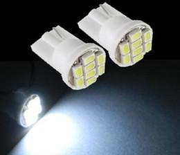 Compra Online Luces del coche rojo-100PCS blanco / azul / rojo T10 8 LED W5W cuña T10 8 SMD 1206 brillante coche super Luces bombillas
