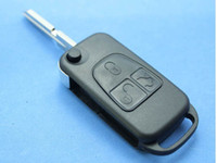Wholesale Replacement Key Case For Mercedes Benz Buttons Folding Flip Remote Key Shell Track HU39 Blade