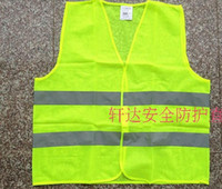 Wholesale reflective coat Reflective clothes vests Thin and light breathable Reflective vest Orange yellow