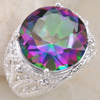 awesome mixes - Christmas Day Stylish jewelry Awesome KING Natural Mystic Topaz Silver Rings CR0070 Mix