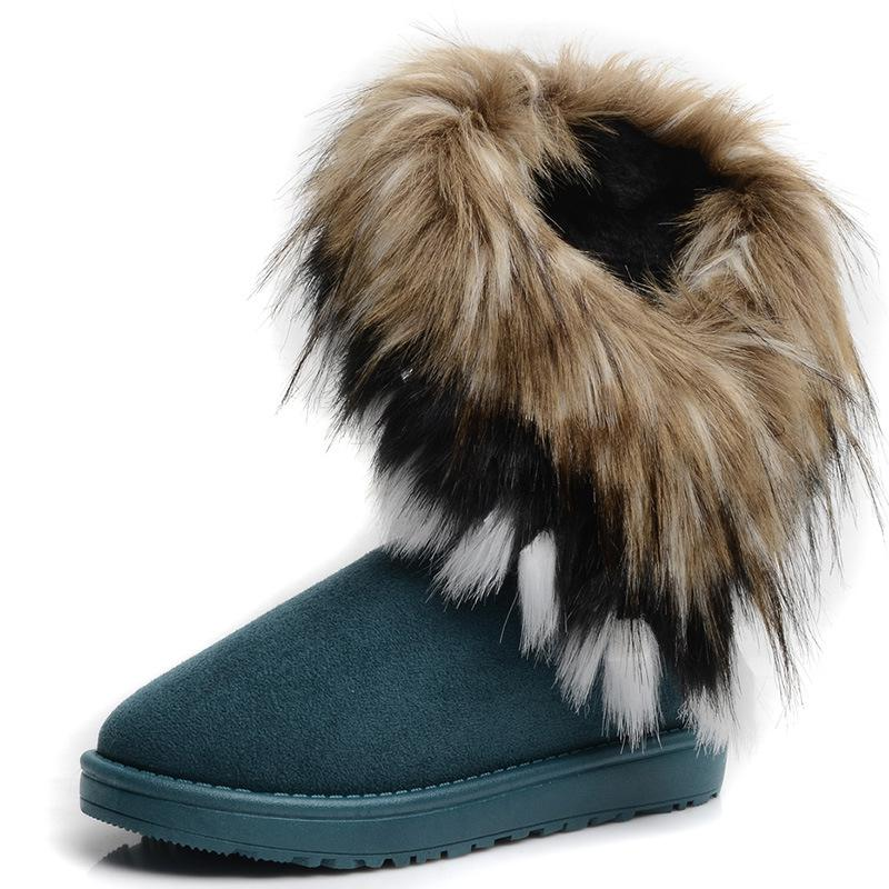 2013 Winter Women Girls Snow Boots Korea Style Fox Wool Cashmere ...