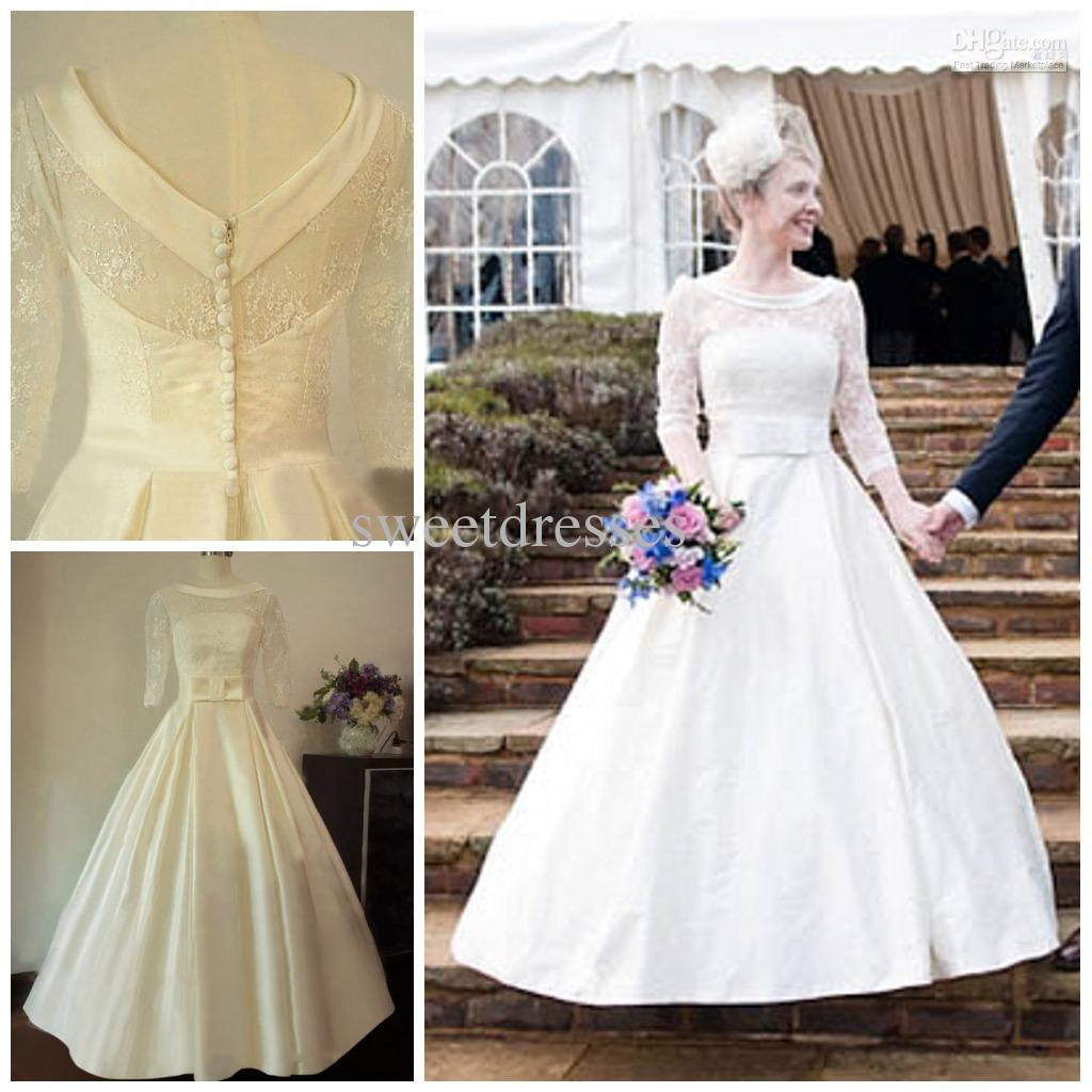 S Style Wedding Dress With Sleeves