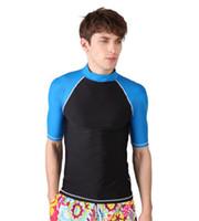 Professional Swimwear uv t-shirt - Hot Sell Diving Surf Clothing Uv Fission Man Swimwear Swimming Short Sleeve T Shirt Size S XL t0596