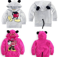 Cheap Minnie mouse costume Christmas Coats jacket overcoats Children jackets girl red bow dots hooded coat with Tail outerwear Children's jacket