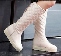 Knee Boots arrival rubber pad - New arrival fashion sweety princess female noble snow warm colorful muffin winter fringed padded slim Knight boots EU34