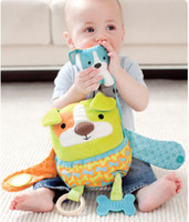 Multicolor dog stroller - children baby Hug and Hide Activity Stroller mirror soft Toy dog